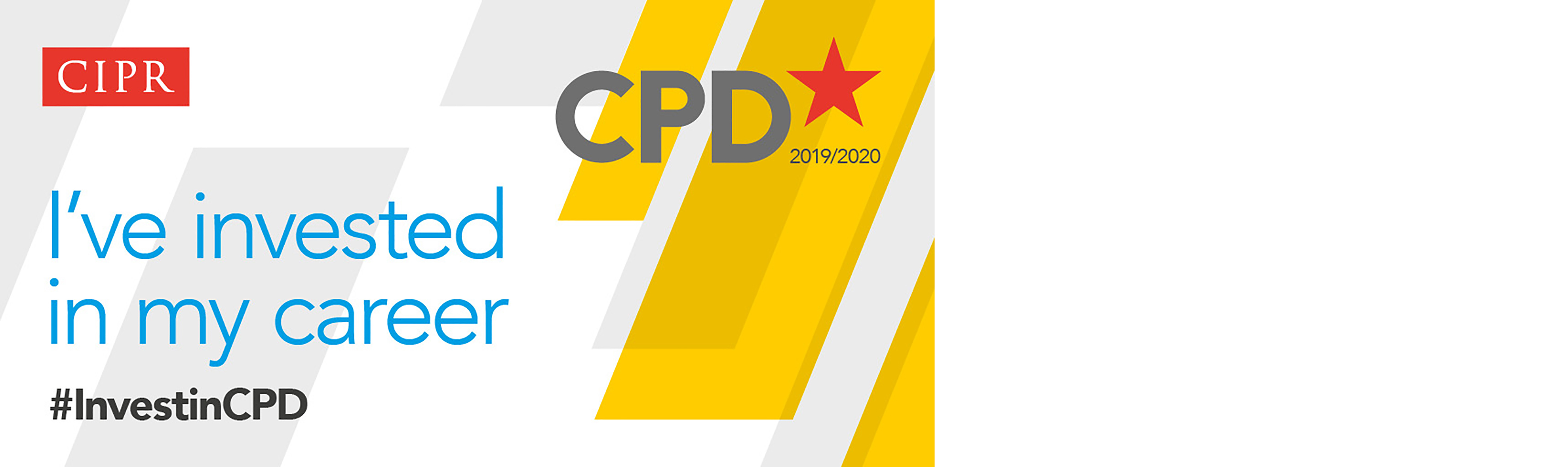 I've invested in my career. CIPR CPD logo